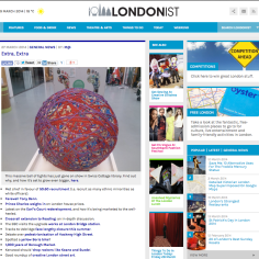 The TIghts Ball on display at Swiss Cottage library, Camden, London - 26th March 2014