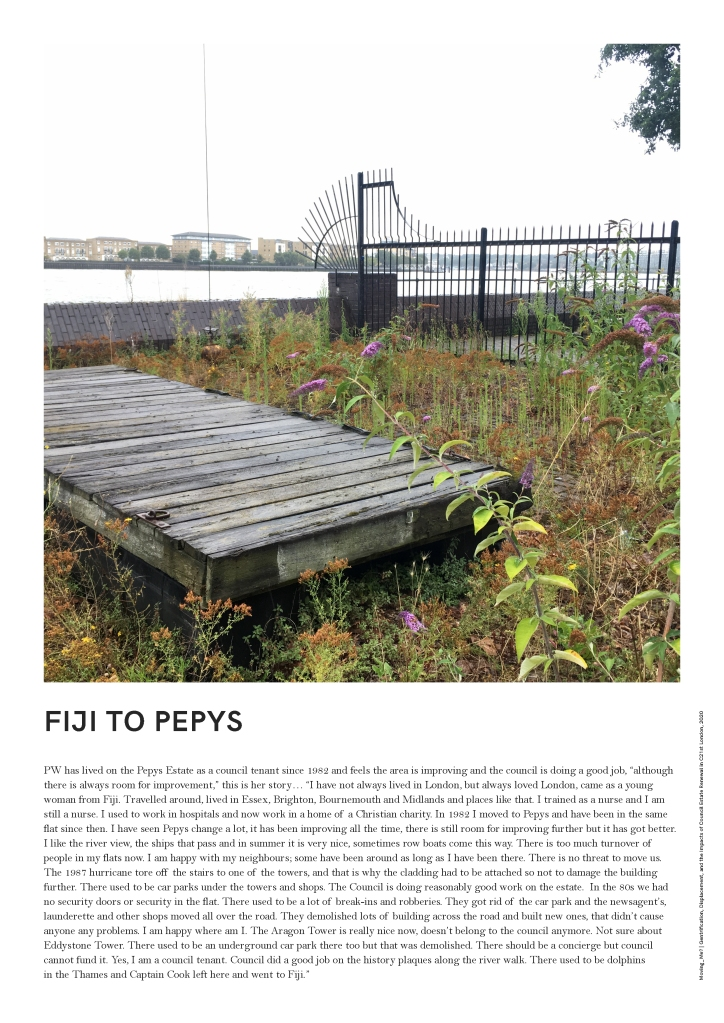 "PW has lived on the Pepys Estate as a council tenant since 1982 and feels the area is improving and the council is doing a good job, ""although there is always room for improvement,"" this is her story..."